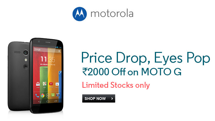 Motorola Moto G price drops by Rs 2000 in India