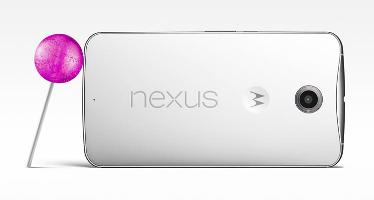 Nexus 6 powered by Android 5.0 Lollipop